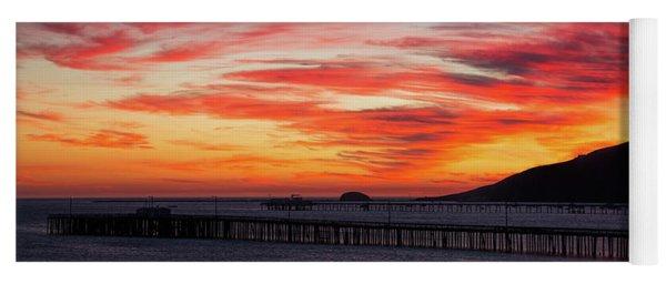 Sunset Clouds Over Avila Beach Yoga Mat