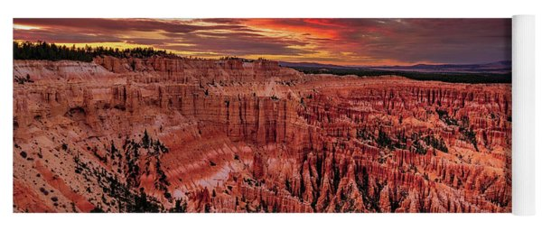 Sunset Clouds Over Bryce Canyon Yoga Mat