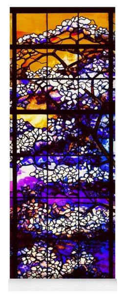 Sunset Dogwoods Neo Tiffany Window Yoga Mat