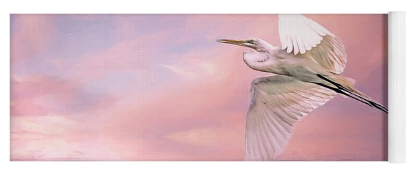 Sunset Egret Yoga Mat