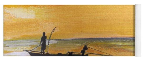 Sunset Fishing Yoga Mat