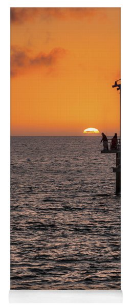 Yoga Mat featuring the photograph Sunset Fishing by Ray Warren