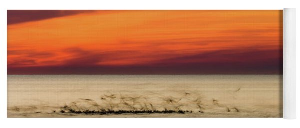 Sunset Flock Yoga Mat