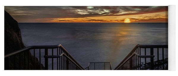 Sunset From Sandpiper Staircase Yoga Mat