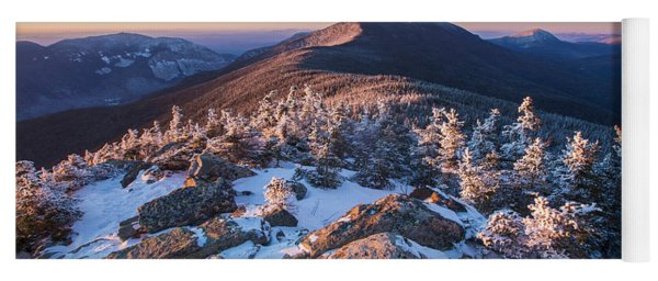 Sunset Glow On Franconia Ridge Yoga Mat