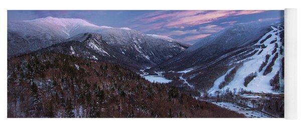 Sunset Glow Over Cannon Mountain Yoga Mat