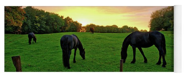 Sunset Horses Yoga Mat