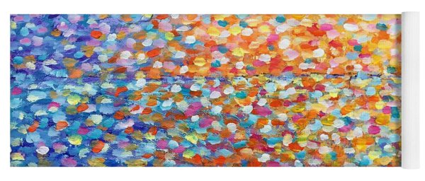 Yoga Mat featuring the painting Sunset - Impressionist Painting by Cristina Stefan
