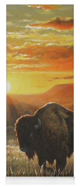 Sunset In Bison Country Yoga Mat