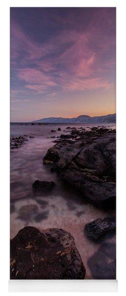 Sunset In Cala Gonone Yoga Mat