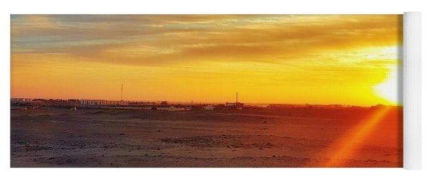 Sunset In Egypt Yoga Mat