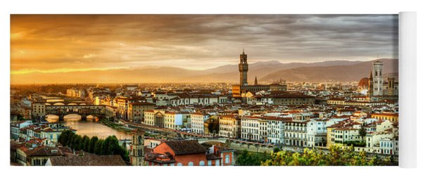 Sunset In Florence Yoga Mat