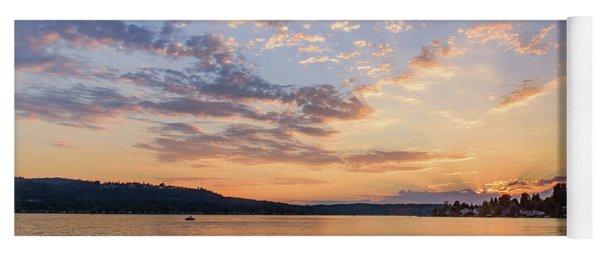 Sunset In Lake Sammamish Yoga Mat