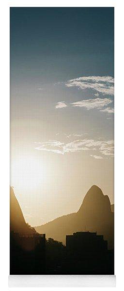 Sunset In Rio De Janeiro, Brazil Yoga Mat