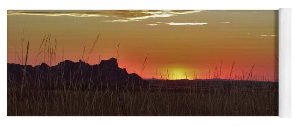 Sunset In The Badlands Yoga Mat