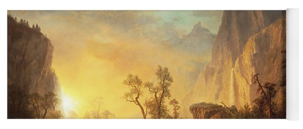 Sunset In The Rockies Yoga Mat