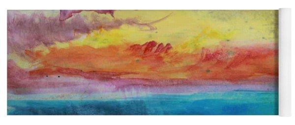 Sunset Lagoon Yoga Mat