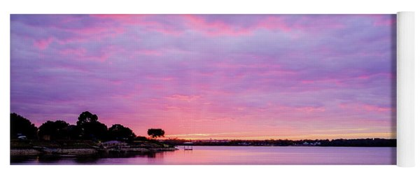Sunset Lake Arlington Texas Yoga Mat