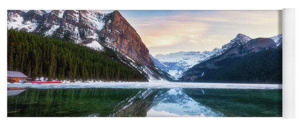 Sunset Lake Louise Yoga Mat