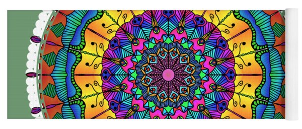Sunset Mandala Yoga Mat