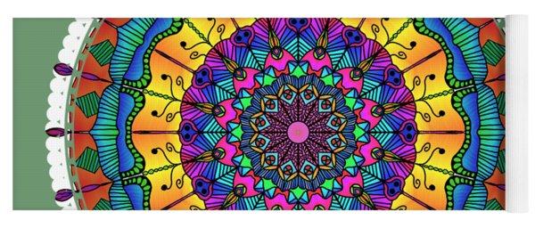 Sunset Mandala Yoga Mat