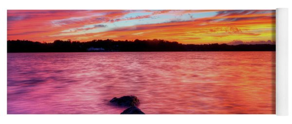 Sunset Of Fire Yoga Mat