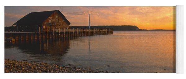 Sunset On Anderson's Dock - Door County Yoga Mat