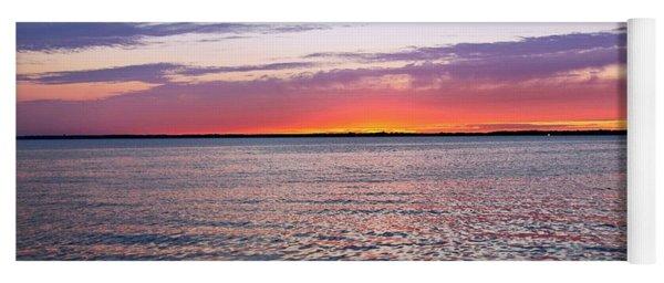 Sunset On Barnegat Bay I - Jersey Shore Yoga Mat