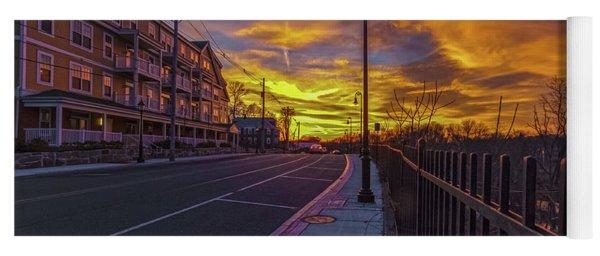 Sunset On Eliot St Milton Ma Yoga Mat