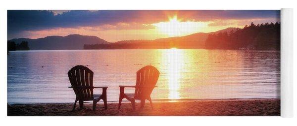 Sunset On Fourth Lake Yoga Mat