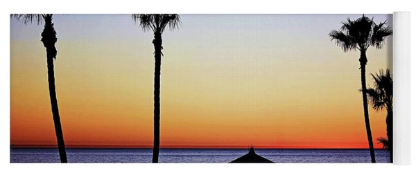 Sunset On Manhattan Beach Pier Yoga Mat