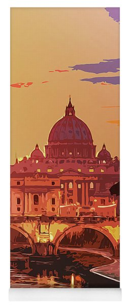 Sunset On Rome The Eternal City Yoga Mat