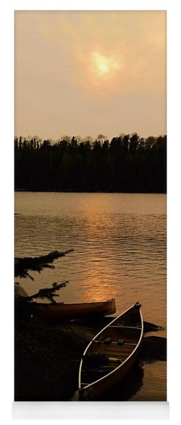 Sunset On Shell Lake Yoga Mat