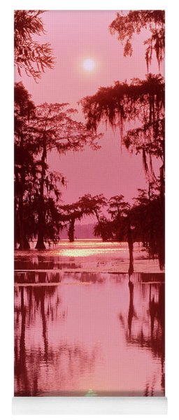 Sunset On The Bayou Atchafalaya Basin Louisiana Yoga Mat