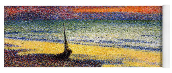 Sunset On The Beach 1891 Yoga Mat