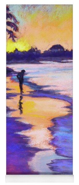 Sunset On The Beach Yoga Mat