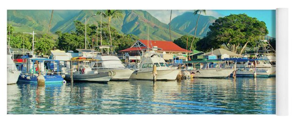 Sunset On The Marina Lahaina Harbour Maui Hawaii Yoga Mat