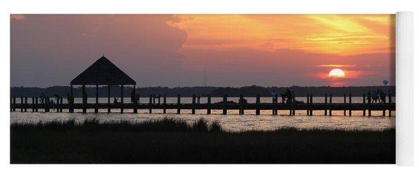 Sunset On Wetlands Walkway Yoga Mat