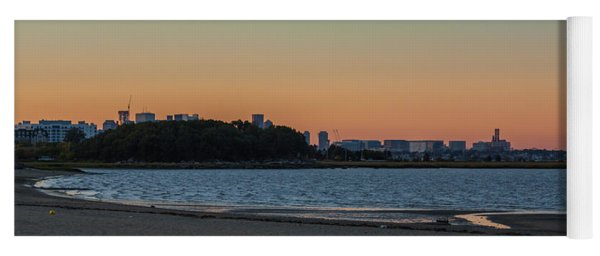 Sunset On Wollaston Beach In Quincy Massachusetts Yoga Mat