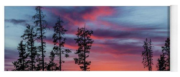 Sunset Over A Farmers Field, Cowboy Trail, Alberta, Canada Yoga Mat