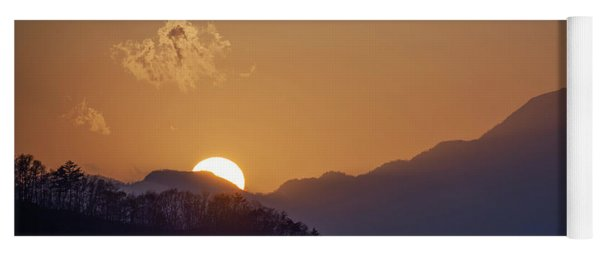 Yoga Mat featuring the photograph Sunset Over Asia  by Rikk Flohr