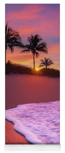 Sunset Over Coral Cove Park In Jupiter, Florida Yoga Mat