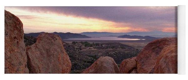 Sunset Over Diamond Valley Lake Yoga Mat