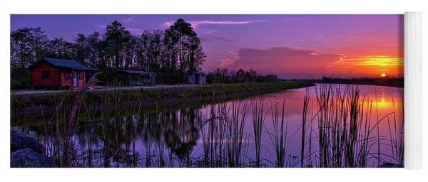 Sunset Over Hungryland Wildlife Management Area Yoga Mat