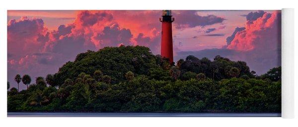 Sunset Over Jupiter Lighthouse, Florida Yoga Mat