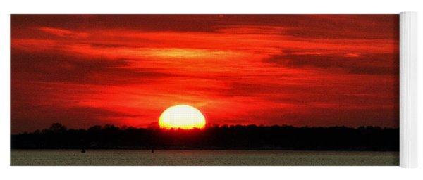 Sunset Over Long Island Yoga Mat