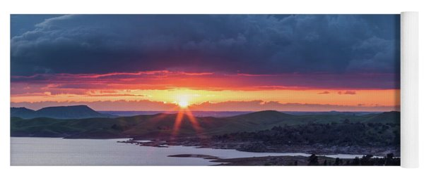 Sunset Over Millerton Lake  Yoga Mat