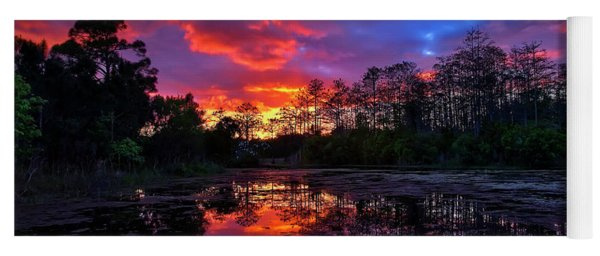 Sunset Over Riverbend Park In Jupiter Florida Yoga Mat