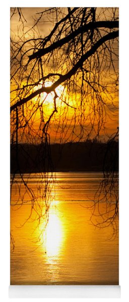 Sunset Over The Lake Yoga Mat