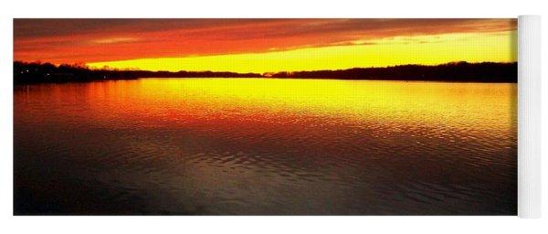 Sunset Over The Lake Yoga Mat